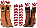 My Boot Trees, Boot Shaper Stands for Closet Organization. Many Patterns to Choose From. 1 Pair (Red and White Chevron).