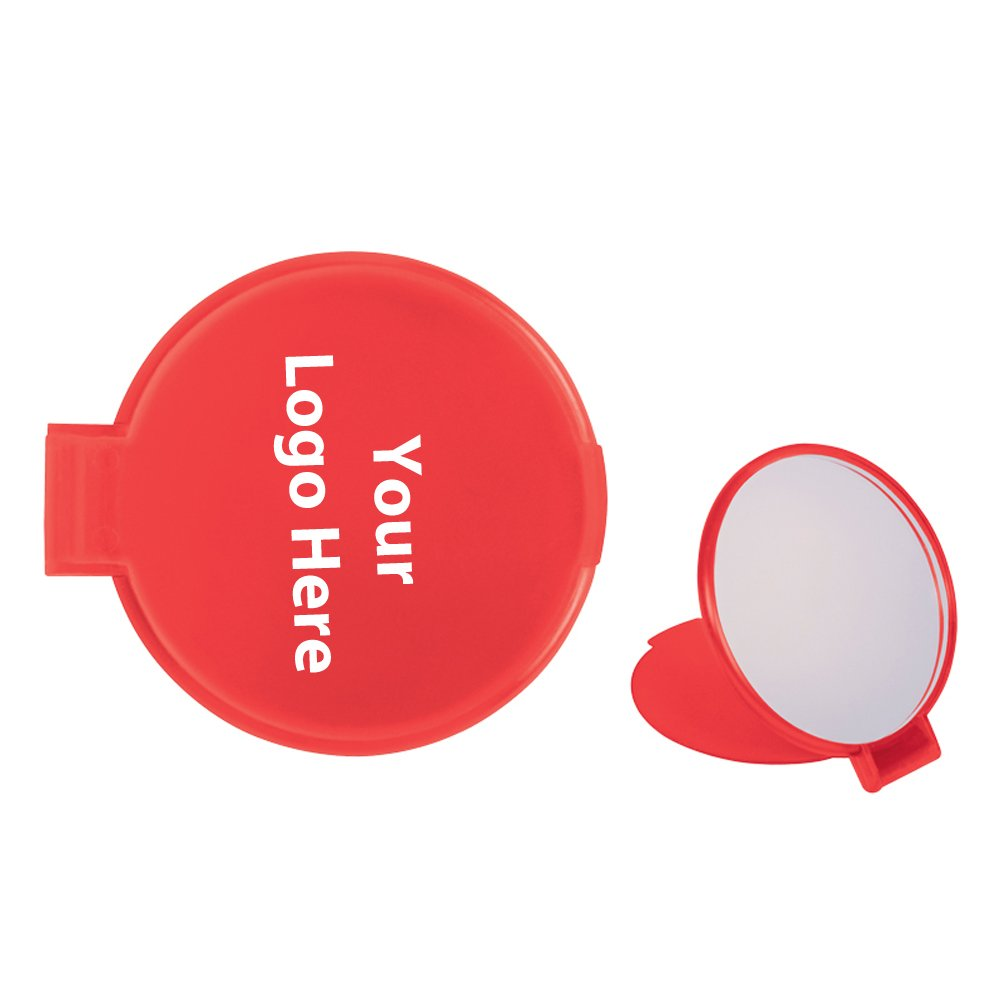 Compact Round Mirror - 250 Quantity - 1.00 Each - PROMOTIONAL PRODUCT/BULK/BRANDED with YOUR LOGO/CUSTOMIZED