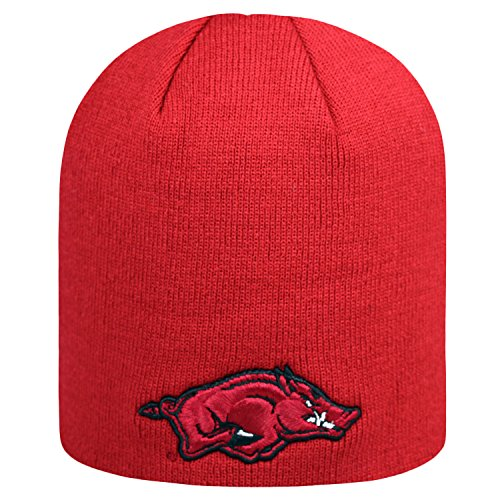 Top of the World NCAA Classic Knit Beanie Hat-Arkansas Razorbacks