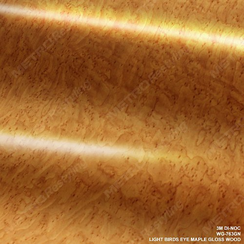 4ft x 1ft (48in x 12in) (4 Sq/ft) 3M DI-NOC Gloss Light Birds Eye Wood Grain Vinyl Film Series (Birdseye Maple Blades)