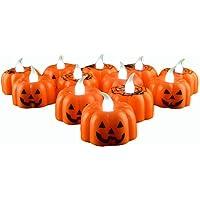 LUOEM Candle Lantern Pumpkin Lamp Classic LED Light