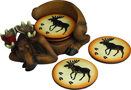 River's Edge Moose Coaster Set