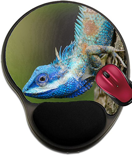 Like Antioxidant - Liili Mousepad wrist protected Mouse Pads/Mat with wrist support design IMAGE ID: 24313853 Blue Lizard with big eyes in closed up details like small reptile with nice details on its painted body
