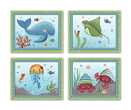 Sweet Ocean Dreams. Nursery Wall Art Print Collection (8