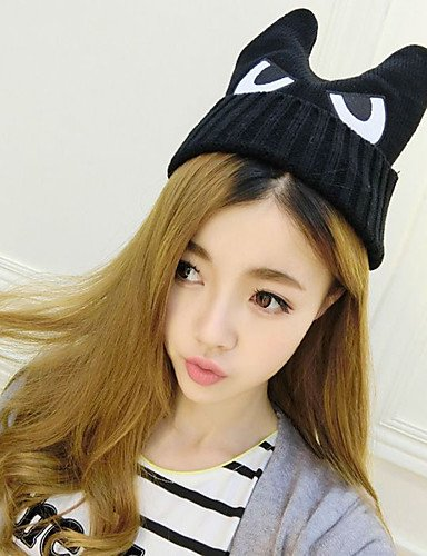 8c840abe081 Suvsertu Fashion Wool Eyes Decorated Female Knitted Warm Ear Protection Cap