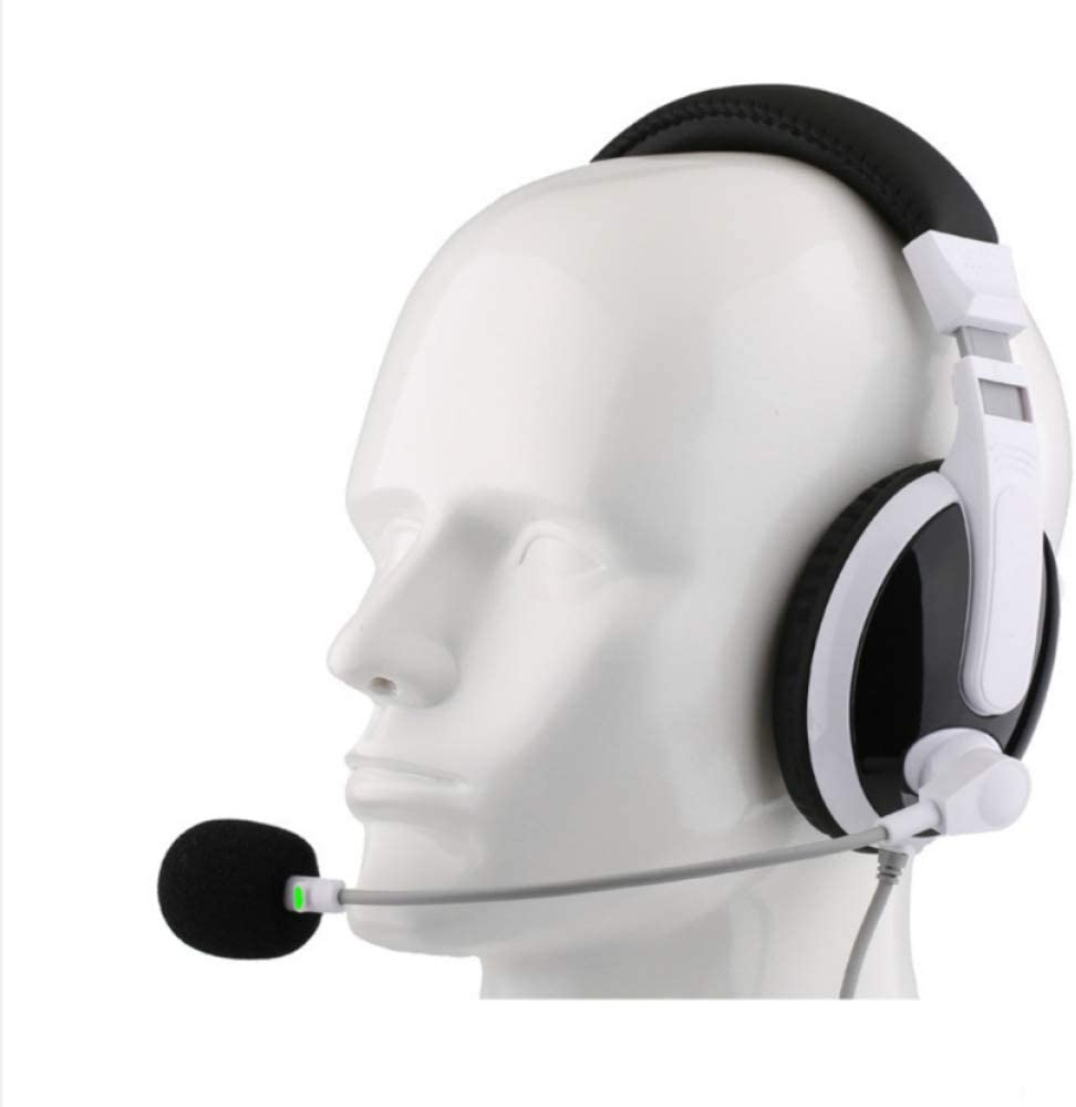 Draadloze headset: Human-Machine Dialogue Oral Training, Headphone Headset Headset, Noise Cancelling Headset (zwart)Zwart. Black.