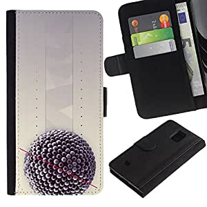 Stuss Case / Funda Carcasa PU de Cuero - Biology Science Nature Virus - Samsung Galaxy S5 Mini, SM-G800, NOT S5 REGULAR!