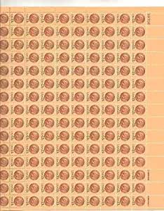 Indian Head Penny Sheet of 150 x 13 Cent US Postage Stamps NEW Scot 1734