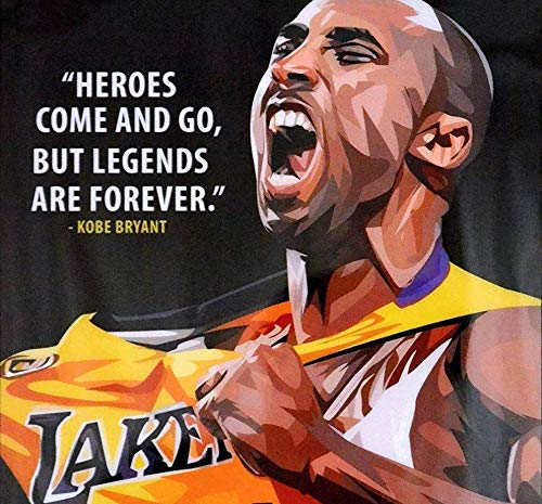 By United Mart Poster Basketball Player Inspiration Quotes Kobe Bryant Poster 12x18 Inch Rolled Poster