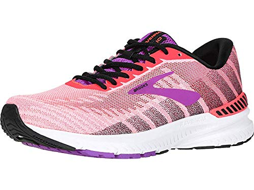 Brooks Women's Ravenna 10 Coral/Purple/Black 10.5 B US
