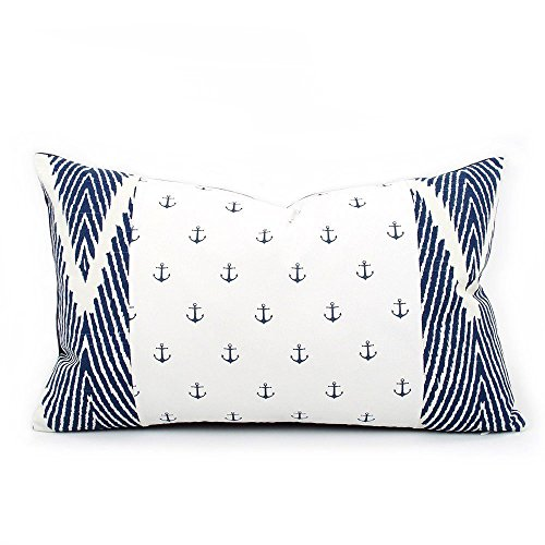 Chloe-Olive-Cotton-Coastal-Anchor-Zig-Zag-Decorative-Throw-Toss-Pillow-Cover-Reversible-Handmade-Couch-Pillow-Case-Blue-and-White-12x20-Lumbar-Accent-Pillow-Cover-Drop-Anchor-Collection