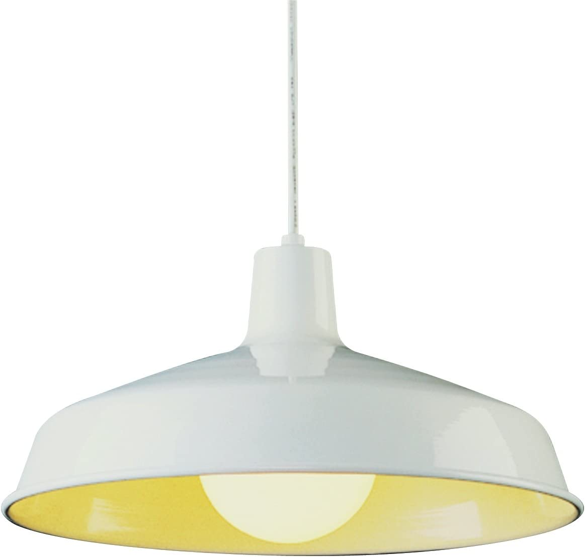 Bel Air Lighting Trans Globe Imports 1100 WH Traditional One Light Pendant from Sherman Collection in White Finish, 15.50 inches
