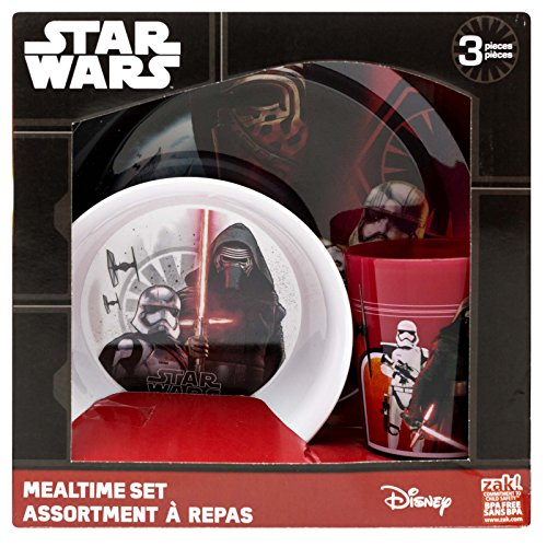 Zak! Designs 3-piece Mealtime Set includes Plate, Bowl and Tumbler with Star Wars The Force Awakens Graphics, (Anakin Set)