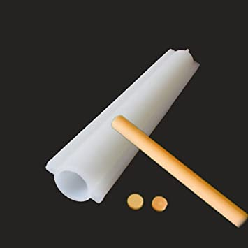 X-Haibei redondo tubo columna silicona jabón vela molde Embed hacer jabón Supplies Dia. 1 Inch: Amazon.es: Juguetes y juegos