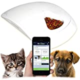Feed and Go Smart Pet Feeder 2018 Model Now With iOS/Android Apps. Built In Webcam. For Wet/Dry Food, Treats & Meds.