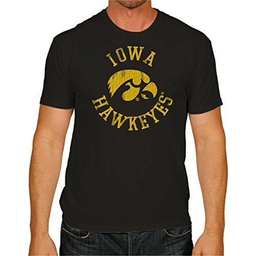 NCAA Iowa Hawkeyes Men's Victory Vintage Tee, Small, Black