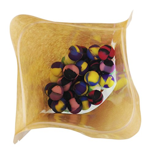 ABLAZE 50 Pcs Silicone Ball Wax Container Bulk Shatter Concentrate Nonstick Non Stick Jar 5ml by Ablaze (Image #2)