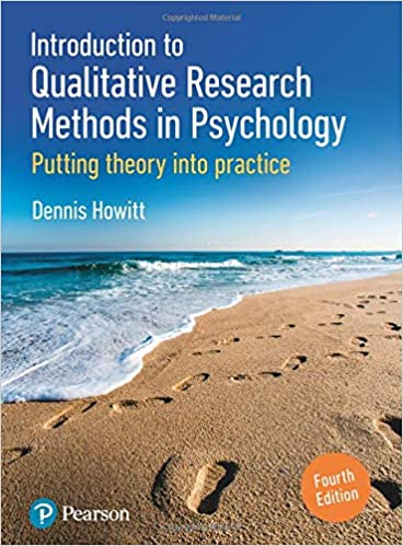 Introduction to Qualitative Research Methods in Psychology 4th Edition