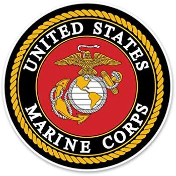 picture relating to Printable Marine Corps Emblem named : Crawford Graphix U.S. Maritime Corps Automobile Decal