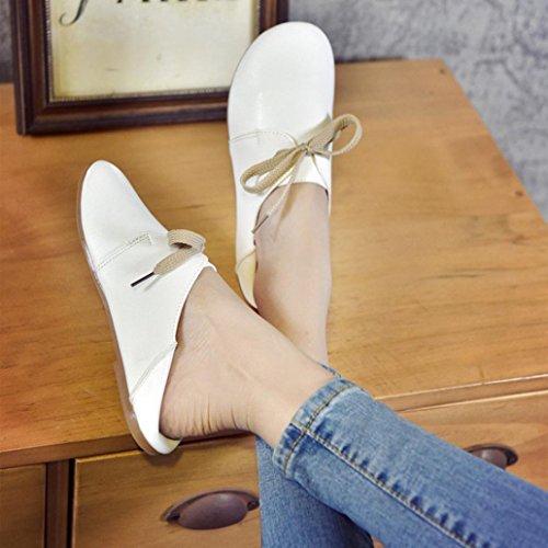 TPulling Herbst Und Winter Frühling Modelle Schuhe Mode Damen Frau Feste Farbe Bequeme Flache Einzelne Schuhe Peas Schuhe Wärme Outdoor Booties Ankle Lässige Schuhe Martin Stiefe Weiß