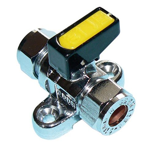 Metrogas 10mm Mini Lever Gas Ball Valve with Backplate - Pack of 2