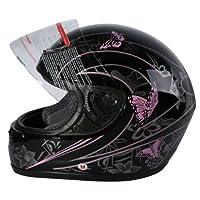 XFMT DOT Audlt Pink Black Butterfly Motorcycle Street Full Face Helmet M from XFMT