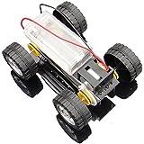 Robocraze Self Assembly DIY Mini Battery Powered Metal Car Model Kit WD Smart Robot Car Tank Chassis RC Toy RC17924