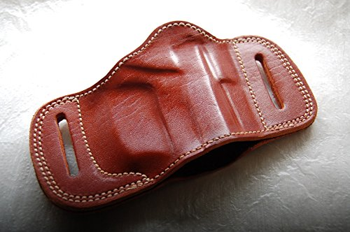 Cal38BMP Handcrafted Leather Belt Slide Holster for Beretta 92 F92 92F 92FS 96 M9 (TAN)