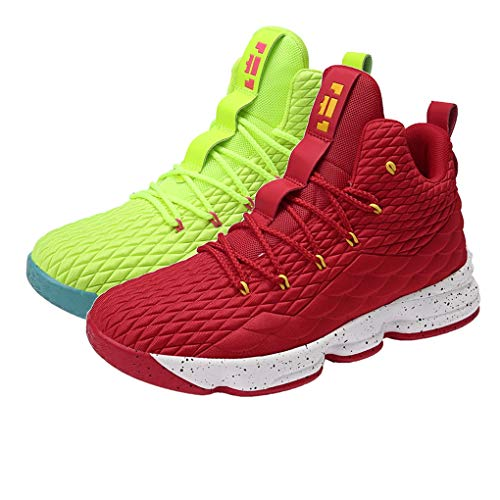 Basketball Shoes for Men Comfortable Cushioning Athletic Shoes Women Outdoor Sport Shoes 13 Breathable Sneakers Red Green