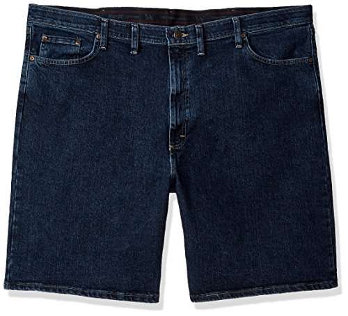 Wrangler Men's Big and Tall Authentics Comfort Flex Denim Short, Dark Stonewash, 48 by Wrangler
