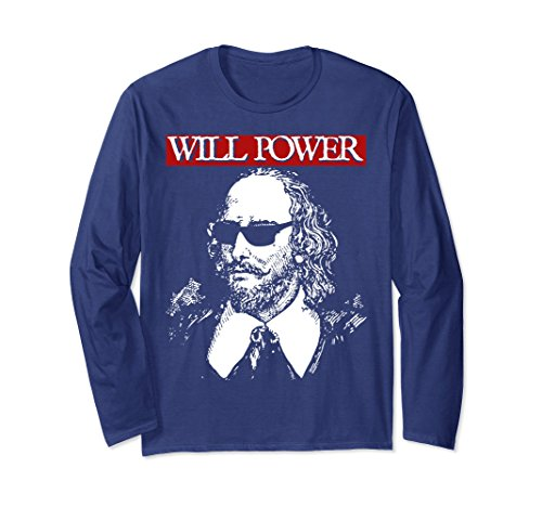 Unisex Shakespeare Sunglasses Will Power Funny Motivational Shirt 2XL - With Shakespeare Sunglasses