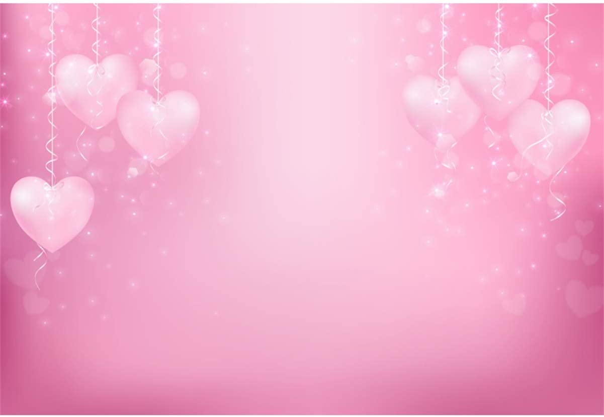 Yeele 10x8ft Love Backdrop for Photography Sweek Pink Heart Love Theme Shiny Sparkling Background Girls Princess Party Valentines Day Mothers Day Artistic Portrait Photo Booth Digital Wallpaper