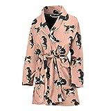 Simply Cool Trends Amazing Border Collie Dog Pattern Print Women's Bath Robe