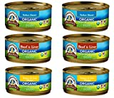 Newman's Own Organic Cat Food 3 Flavor 6 Can Bundle, 2 each: Turkey Dinner, Beef & Liver, Turkey Liver Dinner (5.5 Ounces) Larger Image