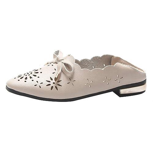 nouveau concept 0df0c 916a2 Chaussure Femme, Sonnena Mocassins de Cuir Creux Casual ...