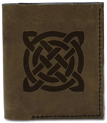 Tattoo 04 Design Tattoo d Celtic Circle Celtic Leather Genuine Handmade 8 Wallet Circle MHLT Natural Men's zqEpHE