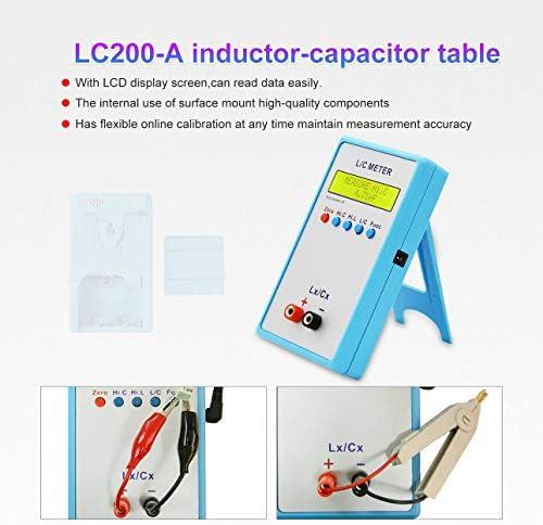 Ballylelly Num/érique LCD Capacitance LC M/ètre LC200A Inductance Testeur Inductance Condensateur Tableau 1pF-100mF 1uH-100H avec Adaptateur