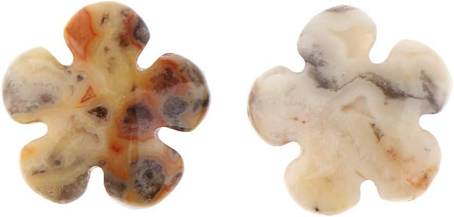 2 Piezas de Piedras Preciosas Perlas Flor Diseño Hallazgos Joyas DIY Accesorio Hecho a Mano Pendiente de Suministro - Color B