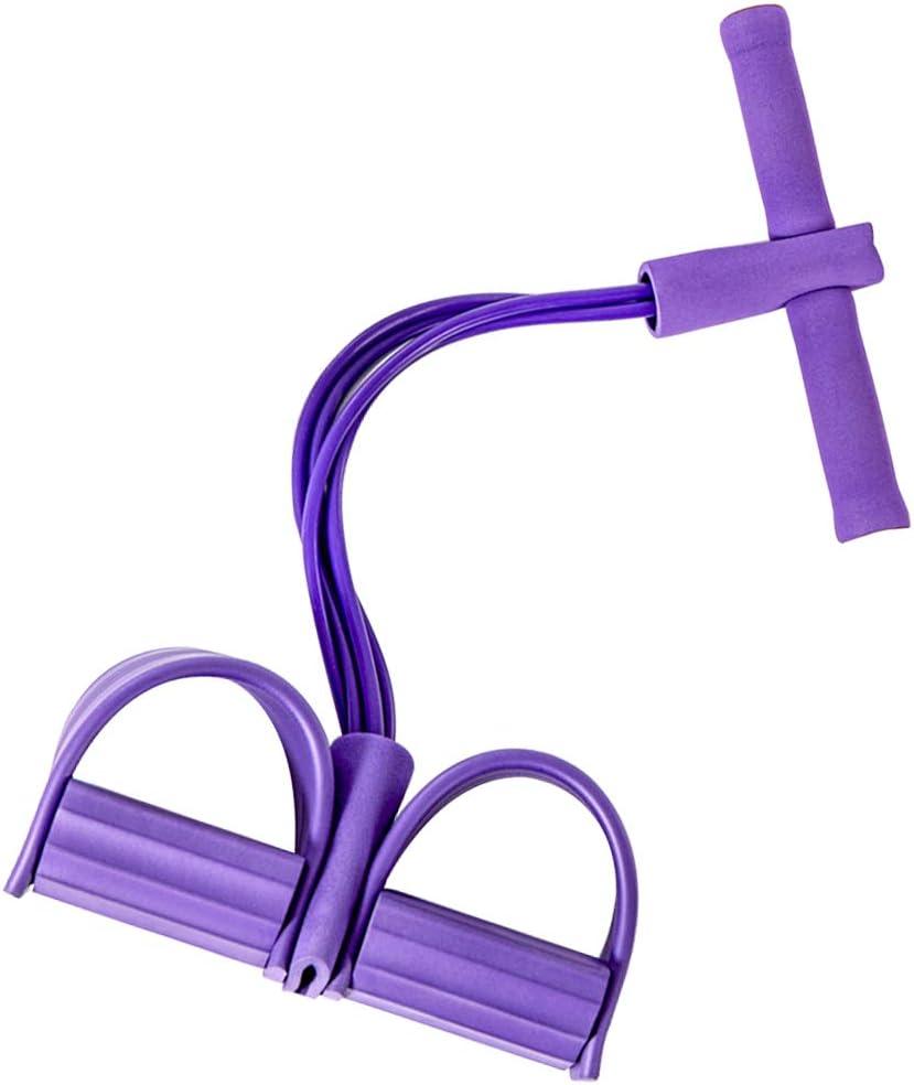 und Bauchtrainer Sit-up-Zugseil-Bein-Maschine 4 Tube Latex Elastisches Zugseil kneift Ausr/üstung f/ür Abdomen-Taillenarm Pahajim Multifunktions-Pedal-Widerstandsband Leichte Kern
