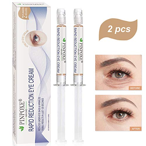 Eye Cream, Eye Serum, Eye Treatment Creams, Eye Gel, Eye Bags, Rapid Reduction Eye Cream, Anti-Aging Eye Cream, Anti Wrinkle Eye Gel, Under-Eye Bags Treatment, Instant Results within 120 Seconds, 2PCS
