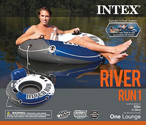 Intex River Run 1 Person Floating Tube (6 Pack) & River Run Lounge (4 Pack) by Intex (Image #8)