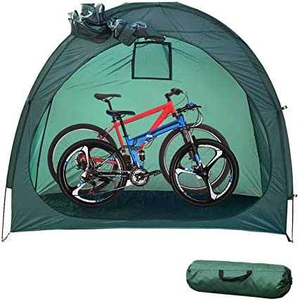 CLOCLO Bike Tent,Foldable Bicycle Tent,Portable Bike Storage Tent Cover Thicken Waterproof Fabric & Reinforced Alloy Bracket Bike Storage Cover Shelter for Outdoor Camping Garden