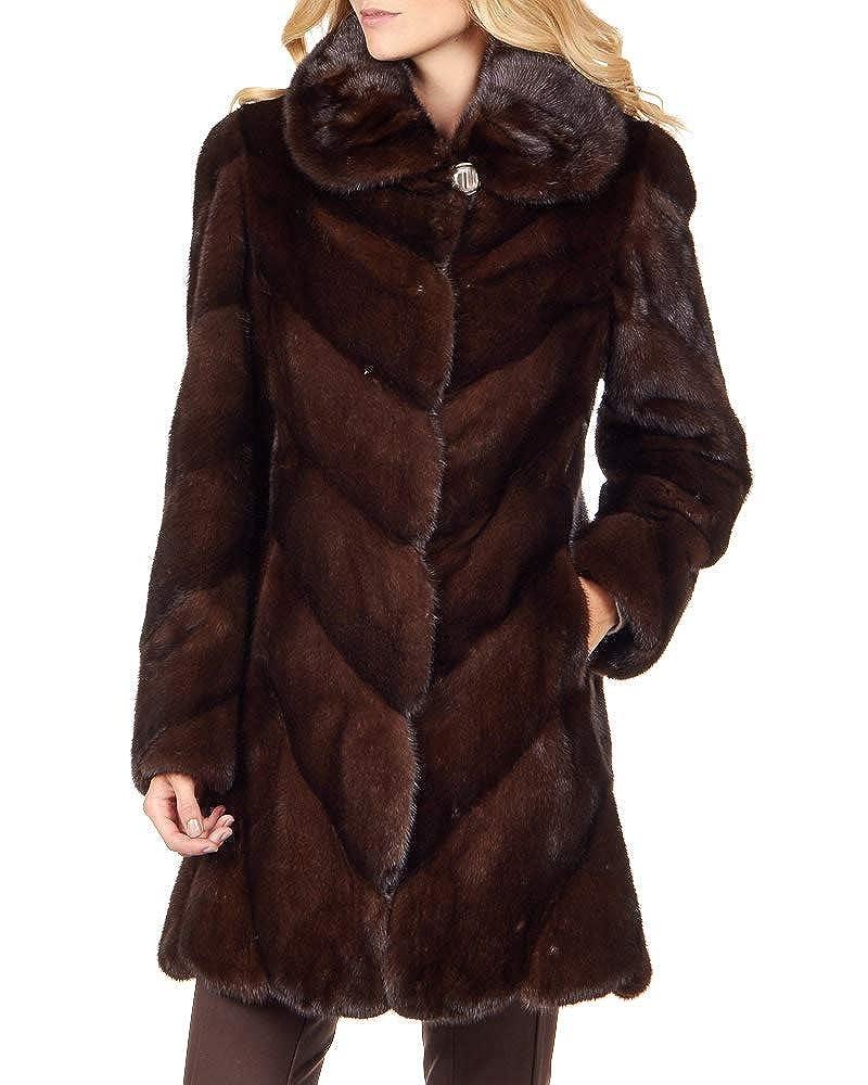 Frr Mahogany Mink Stroller Coat