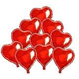 BinaryABC Foil Balloons,Love Heart Shape Helium