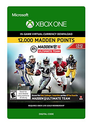 Madden NFL 16: 12000 Points - Xbox One Digital Code by Electronic Arts