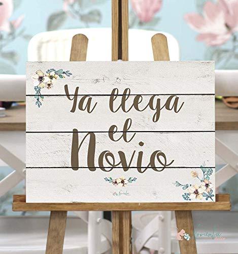 Noviembre Dulce Cartel de Boda Ya llega el Novio - Fondo ...