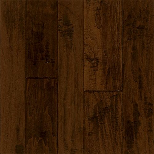 Armstrong EMW6322H Hand-Tooled Engineered Random Width Plank Walnut Hardwood Flooring, 0.5