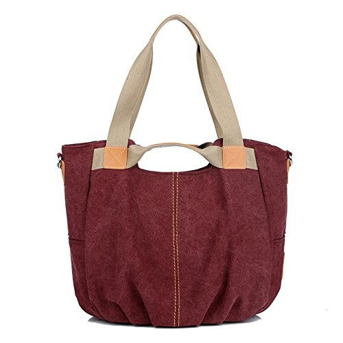 Xiaolongy Casual Mobile Bag Large Capacity Bag Diagonal Trend Of The New Ladies Fashion, Purple Red