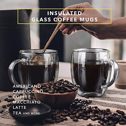Dragon Glassware Coffee Mugs, Premium Designer Cups with Insulated Double-Walled Design, 16-Ounces,  - http://coolthings.us