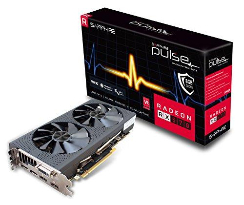 یاقوت کبود 11266-36-20G Radeon Pulse RX 570 8 GB GDDR5 Dual HDMI / DVI-D / Dual DP OC با پشت صفحه (UEFI) کارت گرافیک PCI-E